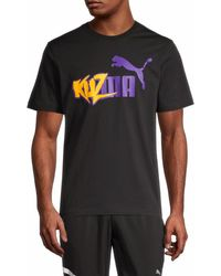 PUMA Men's Kuz Summer T-shirt - Black - Size Xxl