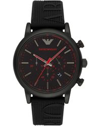 Emporio Armani Dress Luigi Stainless Steel Strap Watch - Black