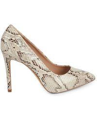 BCBGeneration Women's Skie Snake-print Court Shoes - Ivory Snake - Size 5.5 - White