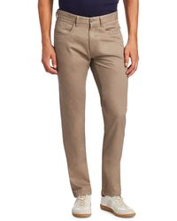 Saks Fifth Avenue Collection Buttoned Pants - Brown