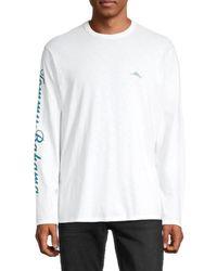 Tommy Bahama Men's Marlin Hideaway Cotton Long-sleeve T-shirt - White - Size Xl