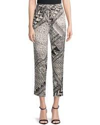 BCBGMAXAZRIA - Printed Woven Slim Pants - Lyst
