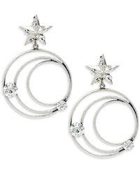 DANNIJO Silvertone & Swarovski Crystal Lucky Earrings - Metallic