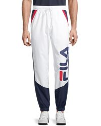 Fila Gustavo Logo Colorblock Jogger Trousers - White