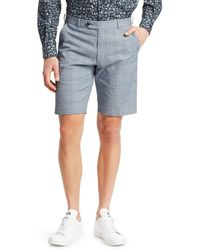 Saks Fifth Avenue Collection Plaid Seersucker Shorts - Blue
