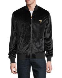 Versace Activewear Velvet Bomber Jacket - Black