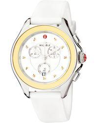 Michele Cape Stainless Steel Honey Topaz Silicone Strap Watch - Metallic