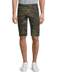Xray Jeans Camouflage Denim Shorts - Green