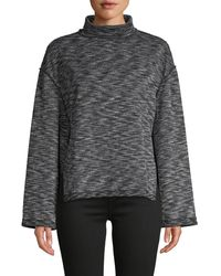 Free People Sunny Days Textured Knit Turtleneck Jumper - Grey