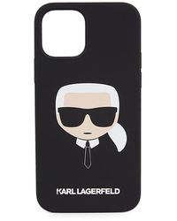 Karl Lagerfeld Liquid Silicone Iphone 12/iphone 12 Pro Case - Black