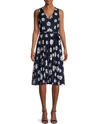 Tommy Hilfiger Moody Floral-print Dress - Blue