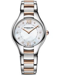 Raymond Weil Noemia Diamond & Mother-of-pearl Stainless Steel Bracelet Watch - Multicolor