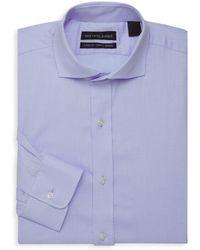 Saks Fifth Avenue - Diagonal Textured Dress Shirt - Lyst