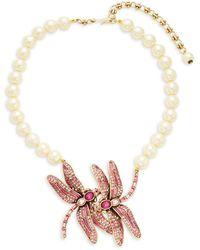 Artisan 14k White Gold & Diamond Pendant Necklace - Multicolour