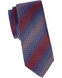 Missoni Iridescent Stripe Silk Tie - Red