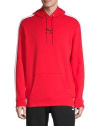 PUMA Men's Mc Apex Graphic Hoodie - Red - Size M