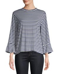 CLU Asymmetric Stripe Shirt - Blue