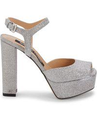 Sergio Rossi Argento Glitter Ankle-strap Sandals - Multicolour