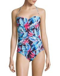 4687e5a1df258 Lyst - Tommy Bahama Palm Of Paradise V-wire Bandeau One-piece ...