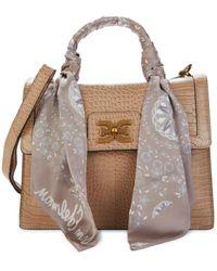 Sam Edelman Women's Dottie Leather Satchel - Toasted Almond - Multicolor