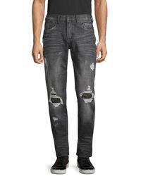 PRPS Distressed Slim Tapered-fit Jeans - Black