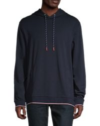 Ted Baker Men's Crossover Drawstring Hoodie - Navy - Size L - Blue