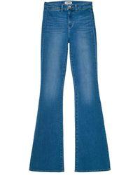 L'Agence Joplin High-rise Flared Jeans - Blue