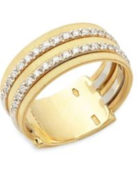 Marco Bicego - 18k Yellow Gold And Diamond Ring - Lyst