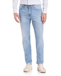 Eidos - Bleached & Stonewashed Jeans - Lyst