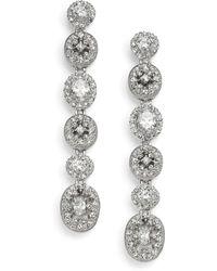 Adriana Orsini Faceted Linear Drop Earrings - Multicolour