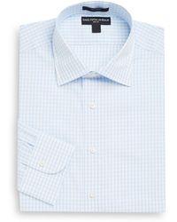 Saks Fifth Avenue - Slim-fit Gingham Cotton Dress Shirt - Lyst