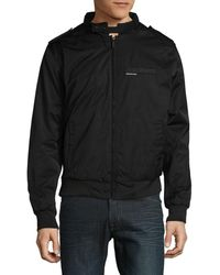 Members Only Men's Heavy Twill Zip-front Jacket - Black - Size M