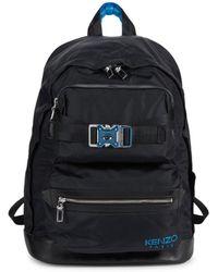 KENZO Men's Eye-graphic Logo Buckle Backpack - Medium Red - Black