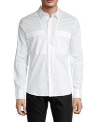 Karl Lagerfeld Side-tie Shirt - White