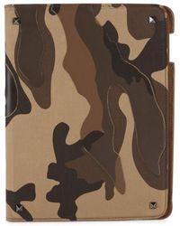 Valentino Garavani Men's Camouflage-print Ipad Case - Green