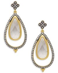 Freida Rothman - Crystal Open Teardrop Earrings - Lyst