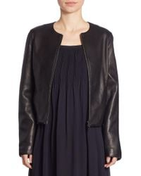 Vince - Zip-front Leather Jacket - Lyst