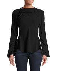 Marni Ruched Long-sleeve Top - Black