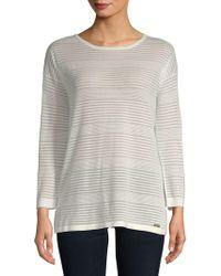 Calvin Klein - Sheer Roundneck Sweater - Lyst