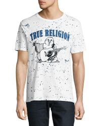 True Religion - Printed Speckled Tee - Lyst