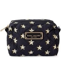 Marc Jacobs Large Star-print Quilted Cosmetic Bag - Blue