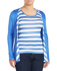 Basler - Long-sleeve Striped Top - Lyst
