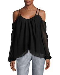 Likely - Solid Cold-shoulder Top - Lyst