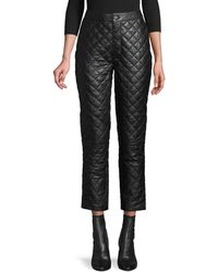 FRAME Quilted Leather Pants - Black
