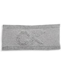 Calvin Klein Logo Terry Headband - Grey