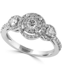Effy - Bouquet Diamond And 14k White Gold Ring, 0.8 Tcw - Lyst