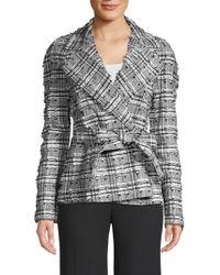 ESCADA - Frayed Tie-waist Blazer - Lyst