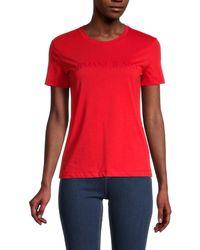 Armani Jeans Tonal Logo T-shirt - Red