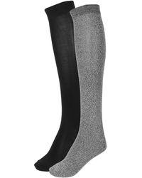 Hue 2-pack Knee-length Socks - Black