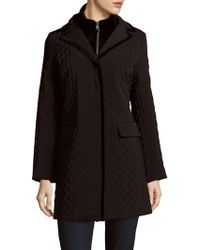 Jane Post - Quilted Long Coat - Lyst